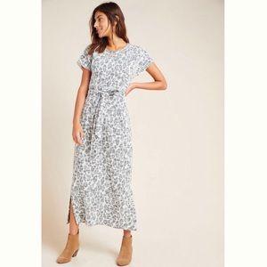 Anthro l Dolan Taleen Textured Leopard Midi Dress